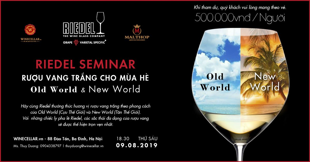 Hanoi | Riedel White Wine Glass Seminar